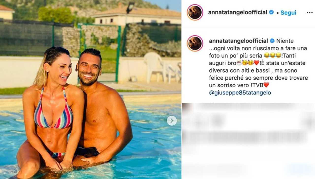 Anna Tatangelo e il fratello
