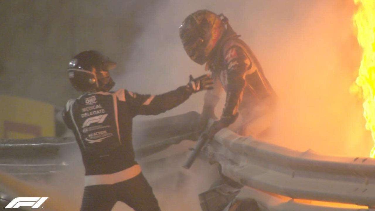 F1, GP Bahrain: le immagini TV della partenza della gara a Sakhir