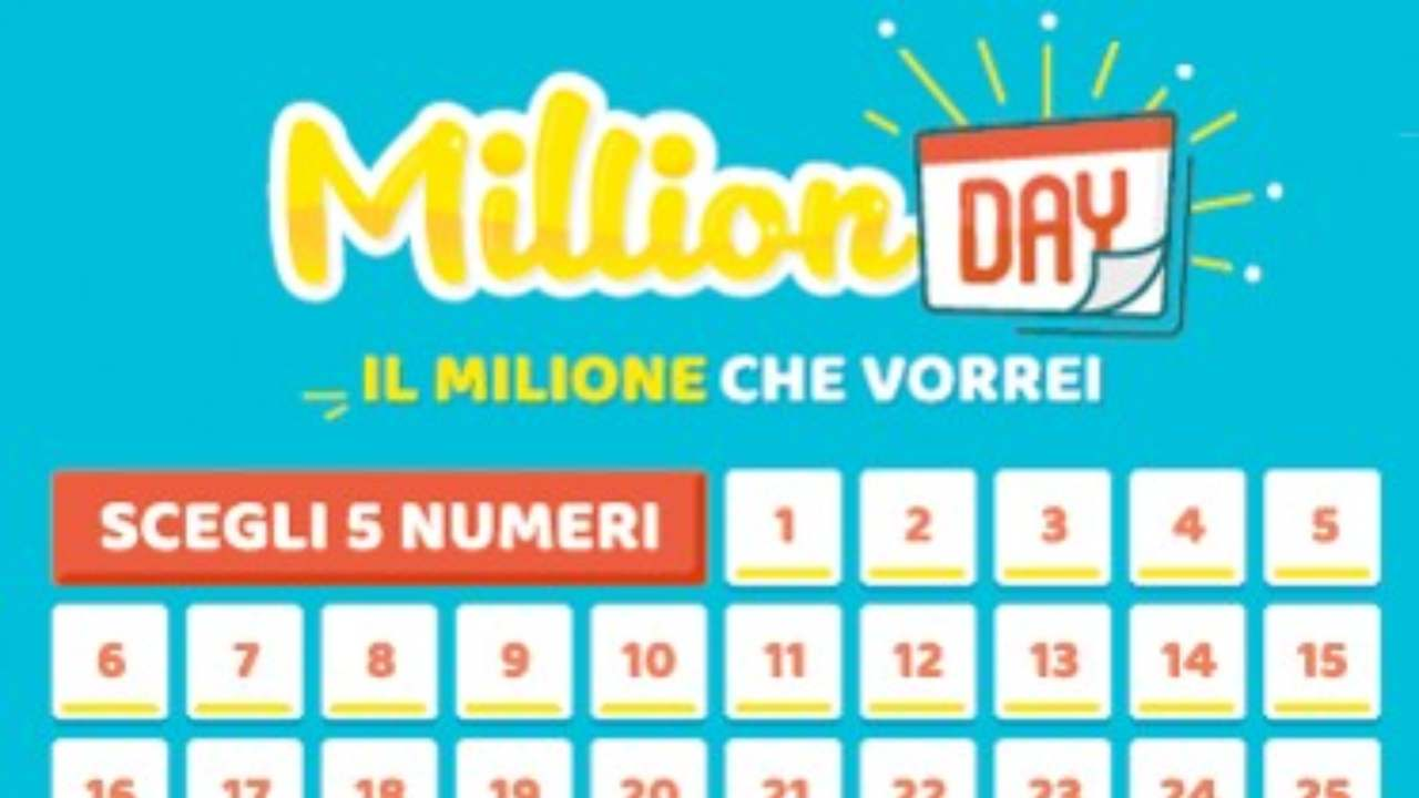 Million Day oggi: estrazione del 6 novembre 2020, numeri e premi