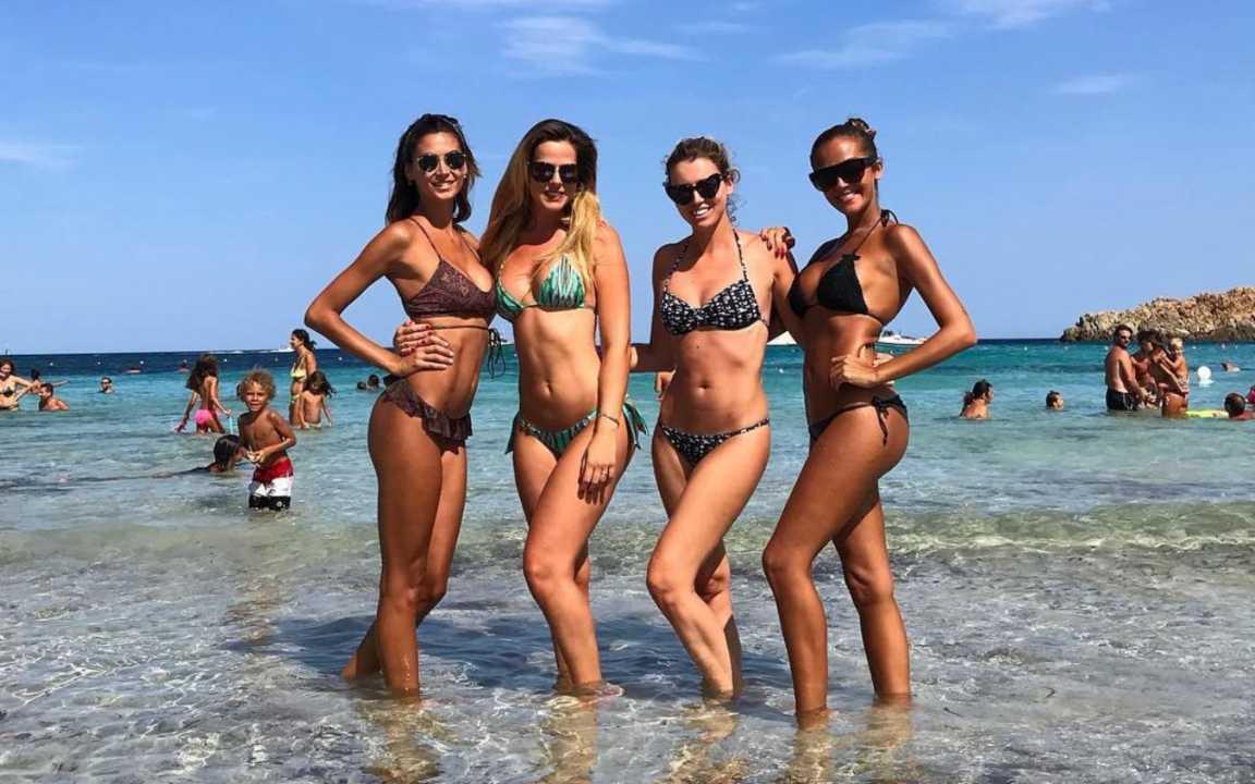 Melissa Satta, Thais Wiggers, Elena Barolo e Giorgia Palmas