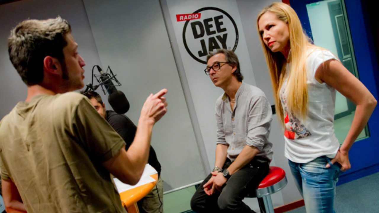 Federica Panicucci con Fargetta a Radio Deejay