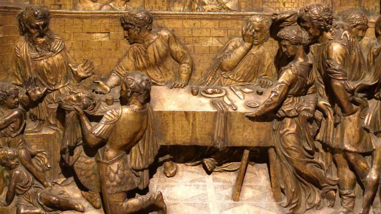 Banchetto di Erode, di Donatello