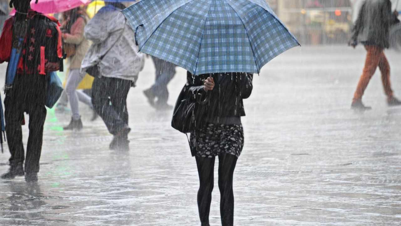 Pioggia a Catania
