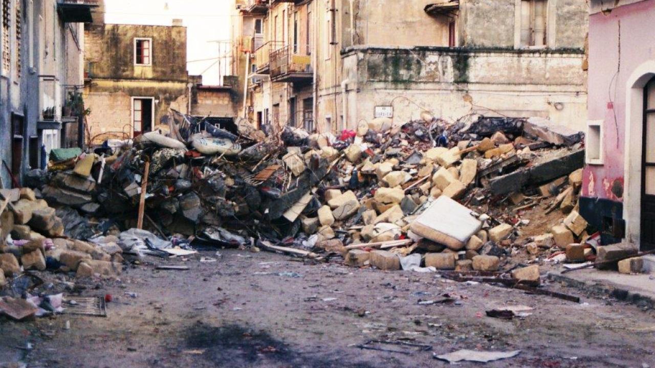 Danni da terremoto in Sicilia