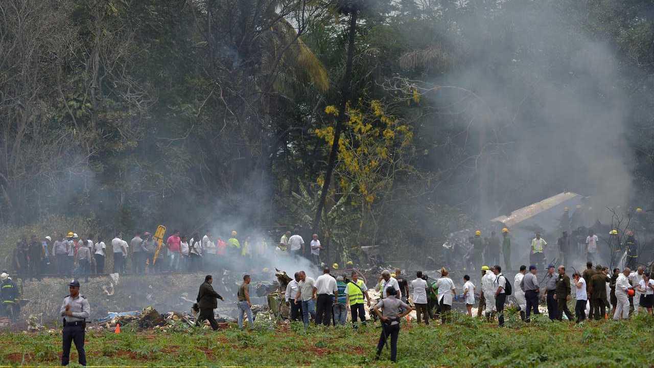 Cuba aereo caduto