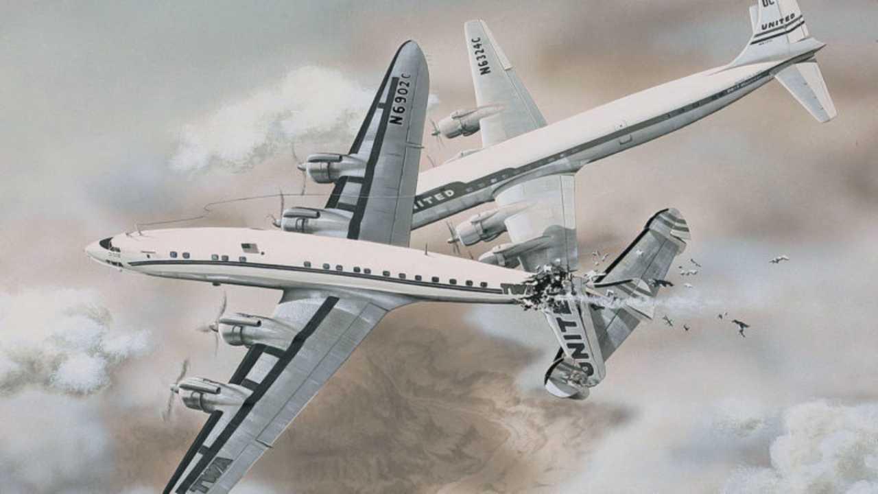 Simulazione incidente aereo Grand Canyon
