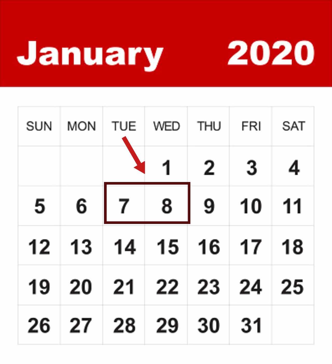 7 e 8 gennaio spostamenti