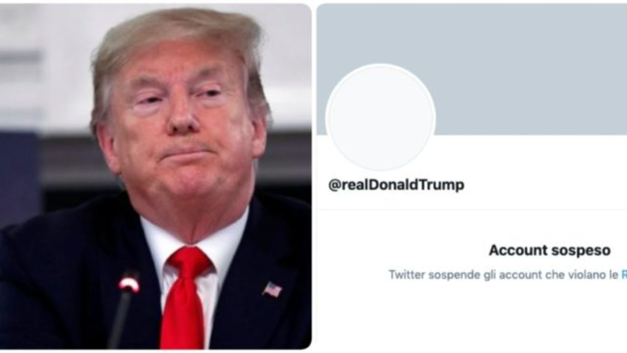 Trump bannato da Twitter