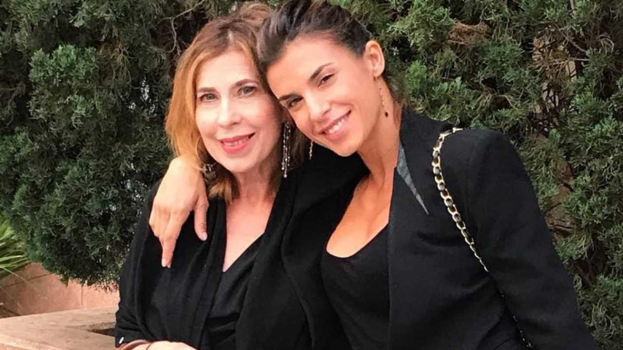 Elisabetta Canalis con la madre