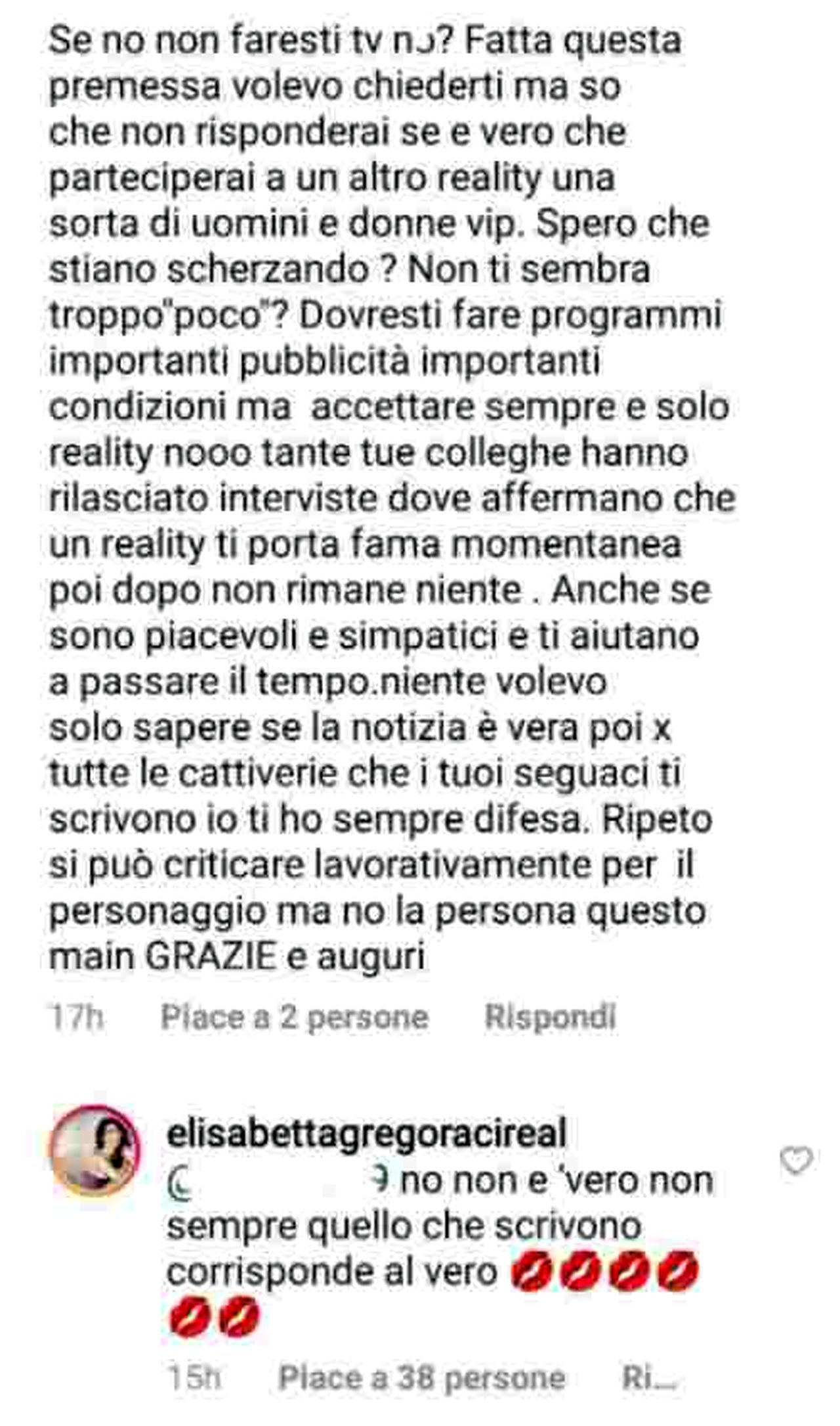 La smentita di Elisabetta Gregoraci