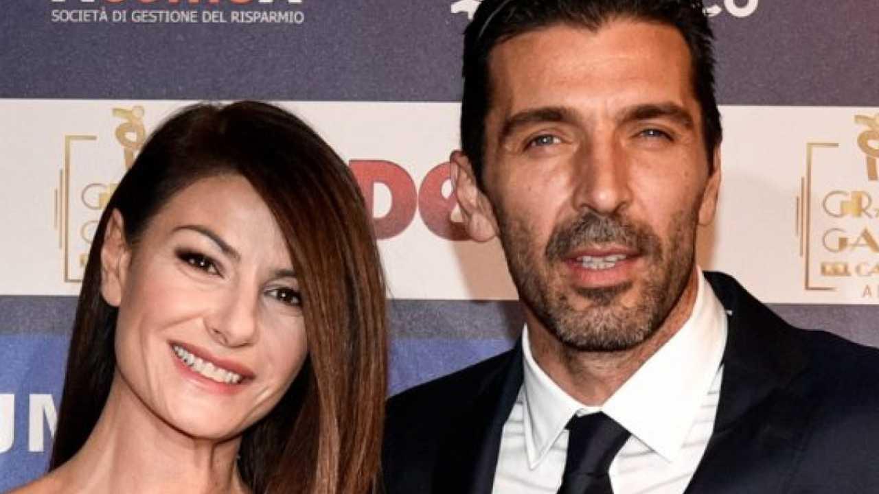La presentatrice e Gigi Buffon