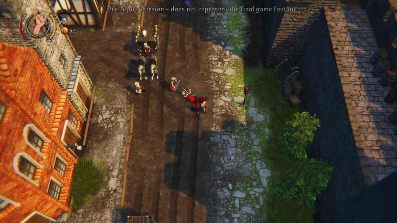 Una scena della versione Alpha del gioco