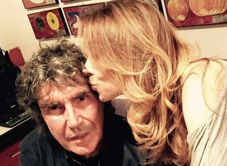 Stefano D'Orazio con la moglie