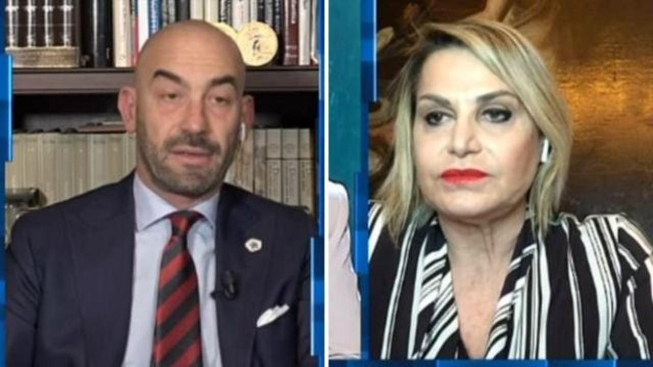 Matteo Bassetti e Simona Ventura