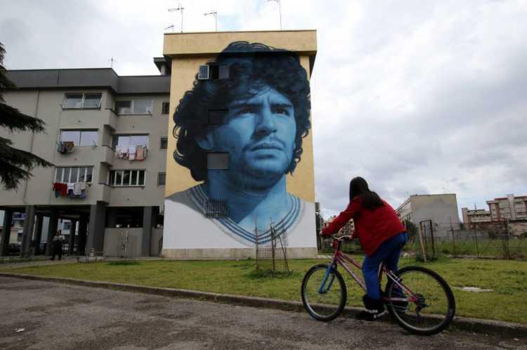 Murale Maradona a Frattamaggiore
