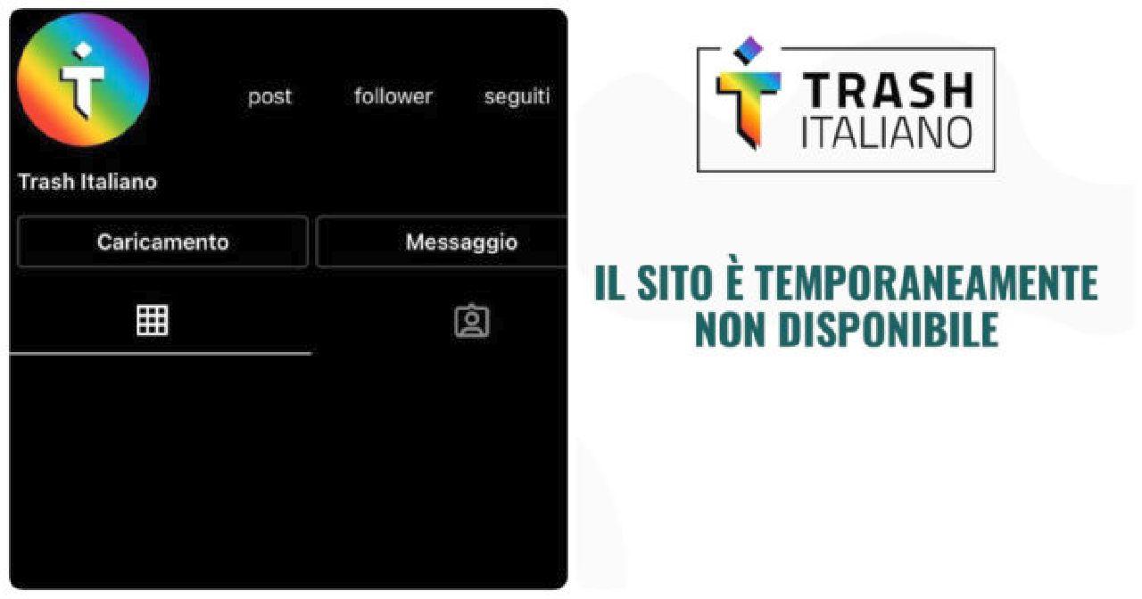 Trash Italiano riappare sui social: cosa è successo e motivo della chiusura