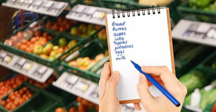 Scrivere la lista della spesa