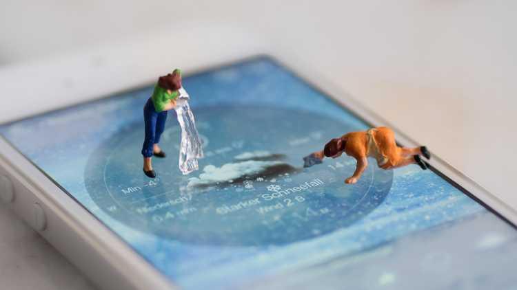 Smartphone igienizzato