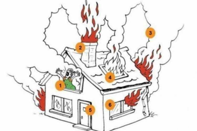 Test casa in fiamme
