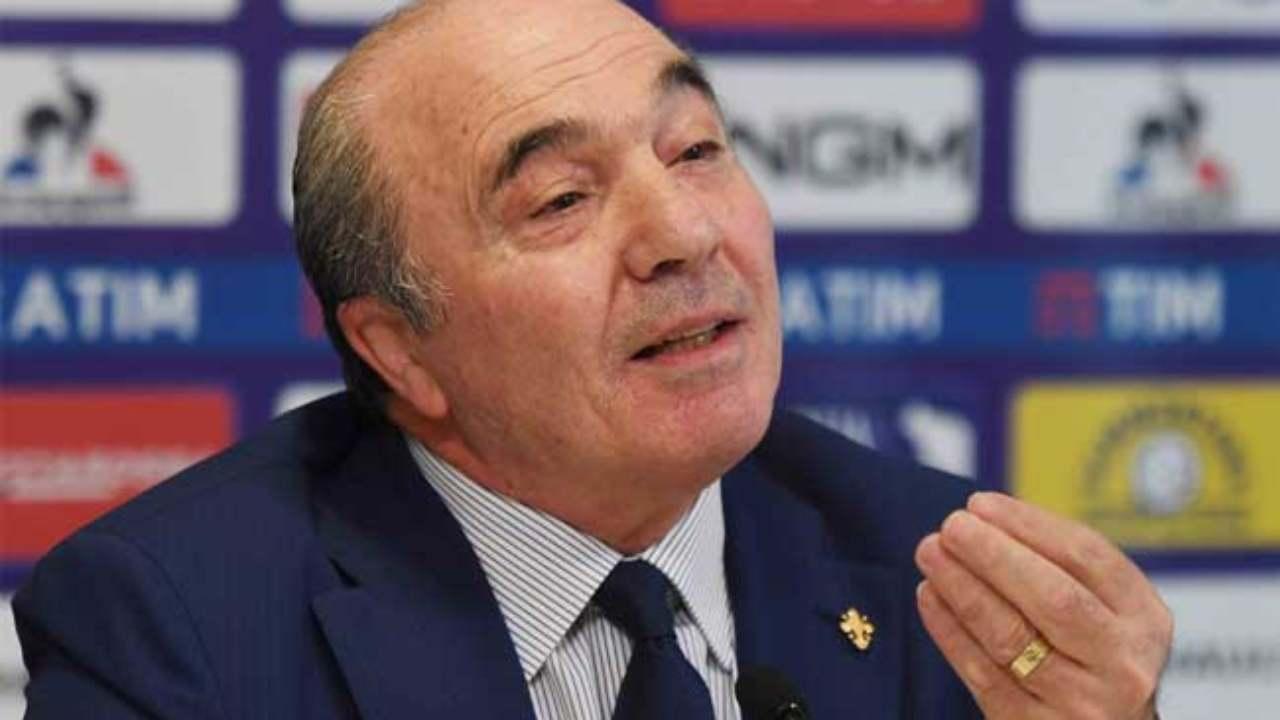 Il presidente della Fiorentina Commisso