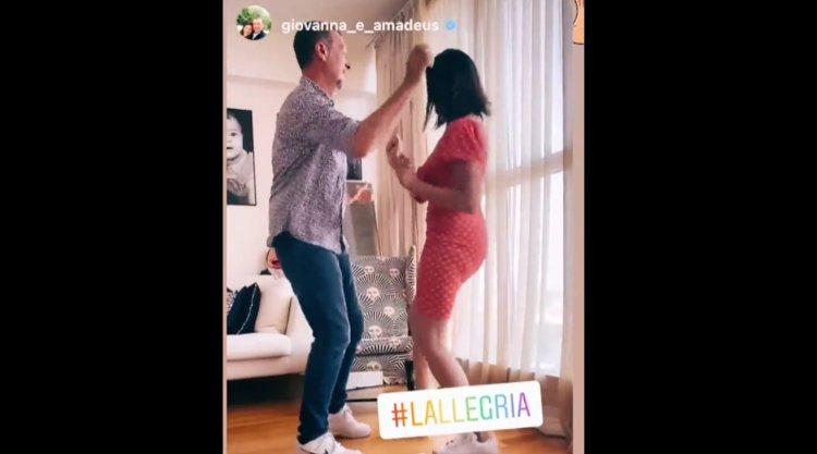 Amadeus e Giovanna ballano