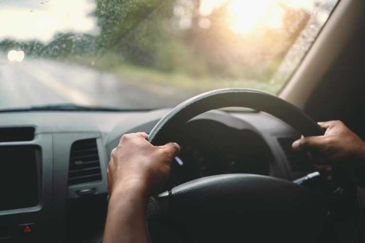 Foto mani sul volante