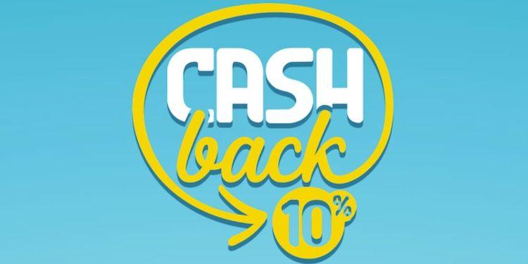 Logo del cashback con percentuale