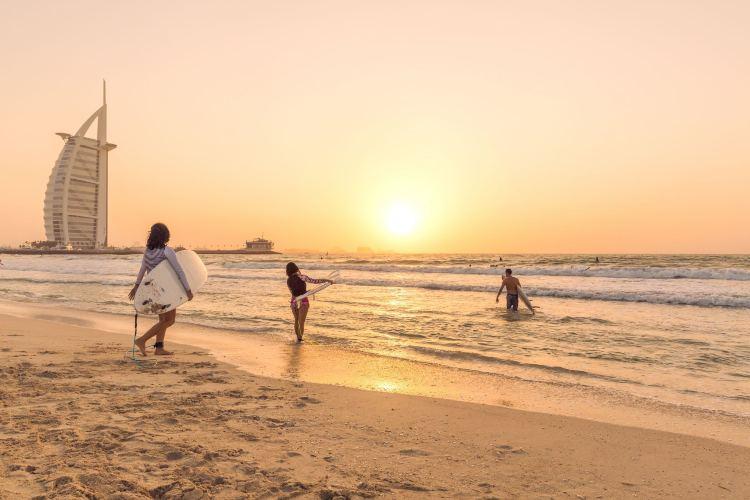 Una spiaggia a Dubai