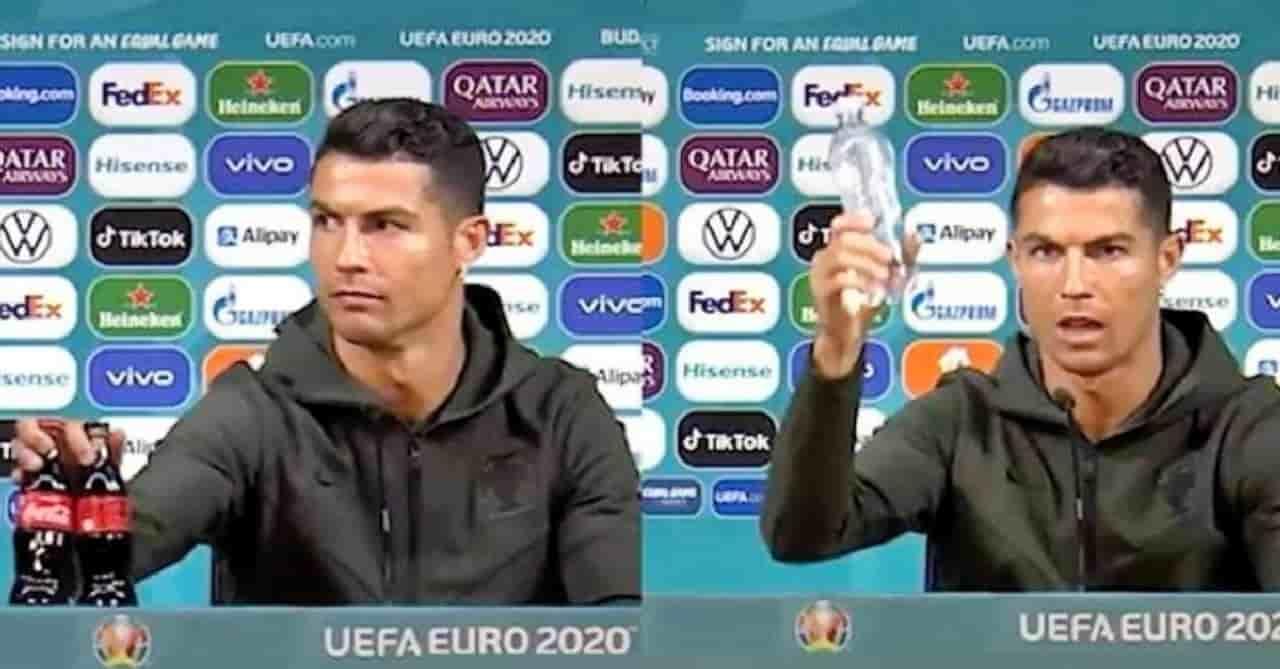 Cristiano Ronaldo e il crollo delle azioni Coca Cola in borsa: è una fake news