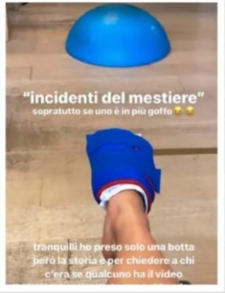 Amici, Giulia incidente