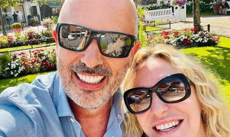 Antonella Clerici e suo marito