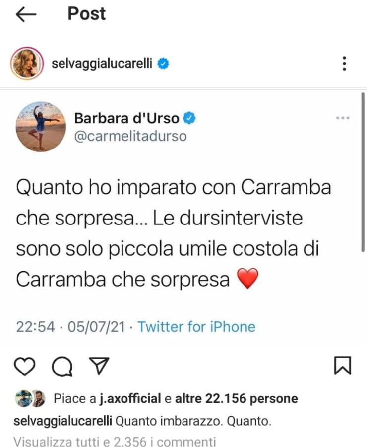 Barbara D'Urso attaccata da Selvaggia Lucarelli