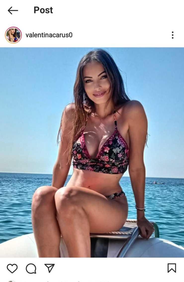 Valentina in barca