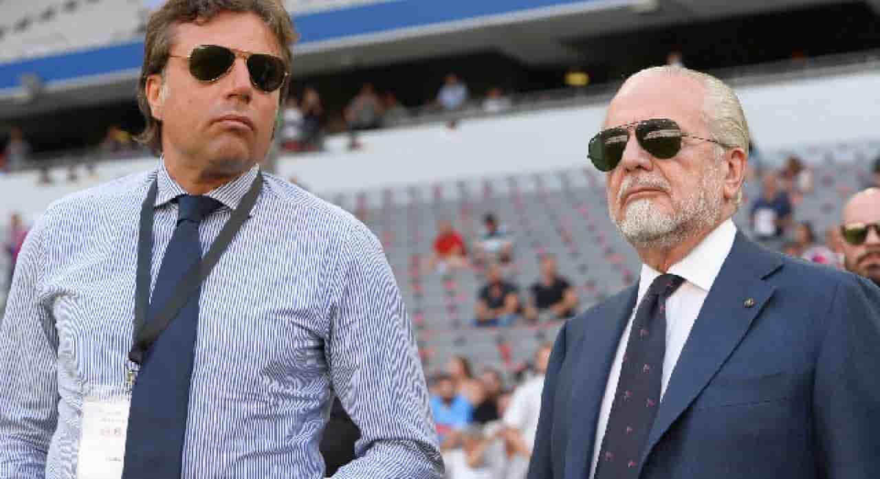 Napoli, De Laurentiis ha litigato col direttore sportivo? Arriva il chiarimento