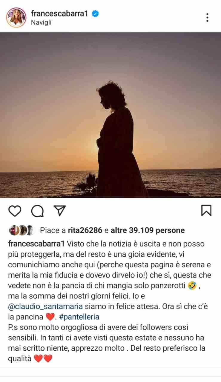 Post Francesca Barra
