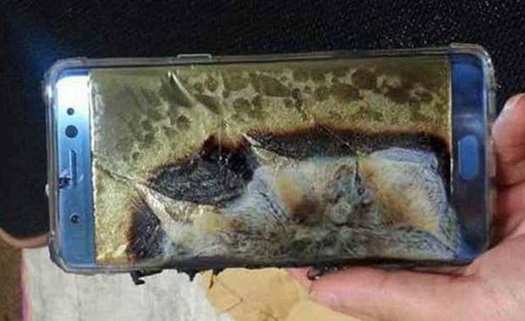 Telefono bruciato
