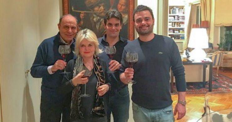 La famiglia di Bruno Vespa al completo